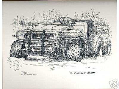 John Deere 6x4 Gator Utility Vehicle Limited Edition Signed Print #'d 1/500...#1
