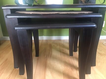 3 coffee side tables