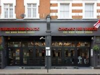 CHEFS JOB IN TWICKENHAM ! BUSY AMERICAN RESTAURANT ! CARRIER PROGRESSION AMAZING RATES OF PAY !