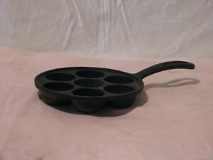 Vintage Cast Iron Danish Ebelskiver pan