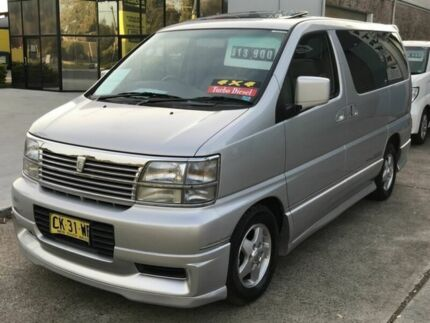 1999 Nissan Elgrand ATWE50 4WD Silver 4 Speed Automatic Wagon