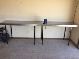 Stainless steel work benches Newnham Launceston Area Preview