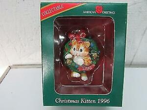 American Greetings Christmas Kitten - Dated 1996