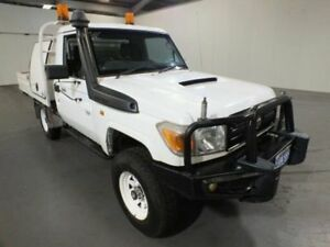 2010 Toyota Landcruiser VDJ79R 09 Upgrade Workmate (4x4) White 5 Speed Manual Cab Chassis Bibra Lake Cockburn Area Preview