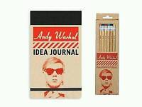 Andy Warhol Journal & pencils
