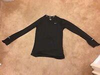 Women's Nike Black Dri Fit Running Gym Training Sports Long Sleeve Size Large L