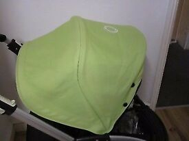 Bugaboo Bee Plus with limited edition light green hood