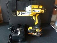 JCB 20v Impact Driver, Brushless, 1/4 inch hex, 3.0ah battery and charger