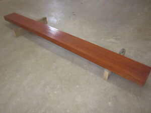 "SOLID OAK WOOD FIREPLACE MANTLE 88""LENGHT MAHOGANY TINT EXC COND"