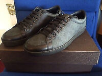 Gucci Black canvas and leather trainers size 9