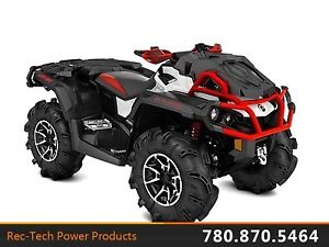 2017 Can-Am Outlander X mr 1000R Black, White  Can-Am Red