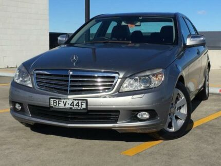 2008 Mercedes-Benz C200 Kompressor W204 Classic Grey 5 Speed Sports Automatic Sedan