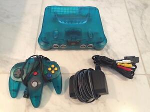 SUPER Rare Ice Blue N64 with Matching Ice Blue Controller