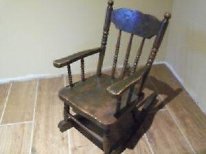 Vintage Childs Pressback Rocking Chair!