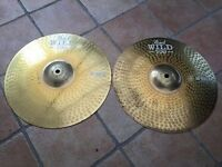 Pearl Wild 500 HI-HATS - Heavy Hammered Cymbals, Paiste Rude style - Japan