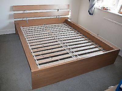 ikea king size hopen bed frame excellent condition quick sale required double bed in. Black Bedroom Furniture Sets. Home Design Ideas