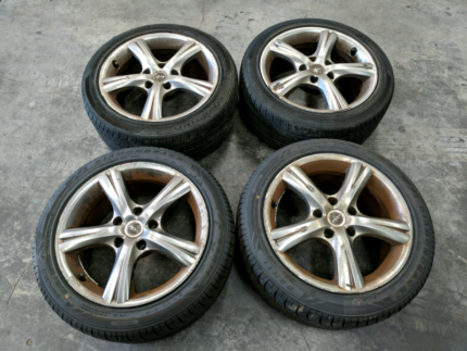 """Set of 17""""Roh wheels 5x120pcd from commodore"""