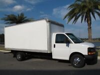17 ft cube van for rent with or with out driver