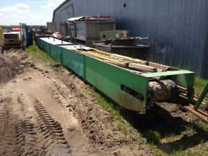 "60 Ft Long x 24"" Wide heavy duty belt conveyor. Would be perfect for moving soil or aggregates!!"