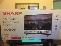 "Brand new sharp aquos 40"" LED smart TV"