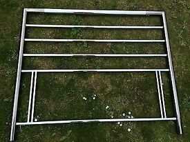 CHROME EFFECT HEADBOARD FOR A DOUBLE BED