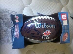 SIGNED BLUE BOMBER FOOTBALL TEAM AUTOGRAPHED