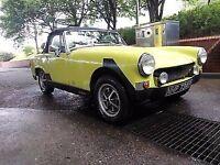 Classic MG Midget 1976 Roadster Convertible 1500cc Full MOT Great Car
