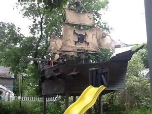 Big pirate ship,boat,playground,treehouse,daycare,play park,pool