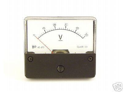 New Dc 50v Analog V Volt Voltage Panel Meter