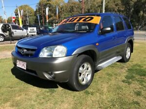 2001 Mazda Tribute Classic Blue 4 Speed Automatic 4x4 Wagon Clontarf Redcliffe Area Preview