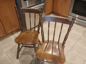 wood dining chairs Cambridge Kitchener Area image 1