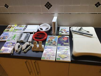 Nintendo Wii with 10 games and accessories