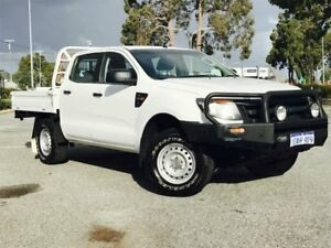 2012 Ford Ranger PX XL 2.2 (4x4) White Solid 6 Speed Manual Crew C/Chas Beckenham Gosnells Area Preview