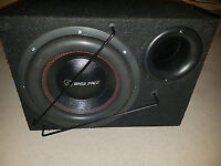 """12"""" bass face dual coil 2500w dvc subwoofer and sub box"""