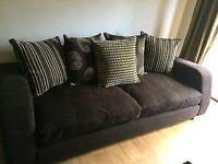 Dfs Brown 3 Seater Pillow Back Sofa, DELIVERY AVAILABLE