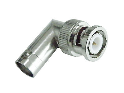 BNC Male to BNC Female Right Angle RF Connector Adapter
