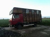 Horsebox to campervan conversion project for sale or swap - Mercedes 814