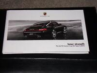 Porsche 911 (997) Targa - Launch booklet.