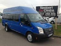 2012 62 FORD TRANSIT MINI BUS 2.2 430 HIGH ROOF BUS 17 SEATER 134 BHP DIESEL