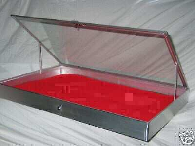 Aluminum Display Show Case for Knives Cards Gun Jewelry ANODIZED Finish