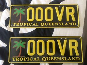 """QLD Personalised plates """" 000VR"""" Highland Park Gold Coast City Preview"""