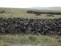 Irish peat turf for burning