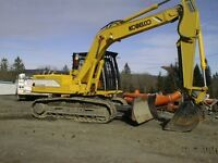 Excavator/Dozer/Loader with operator for hire