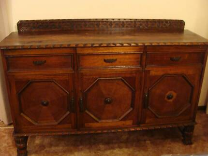 Antique Jacobean Sideboard / Buffet and Matching Dining Table