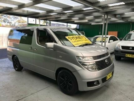 2004 Nissan Elgrand E51 Highway Star Silver 5 Speed Automatic Wagon