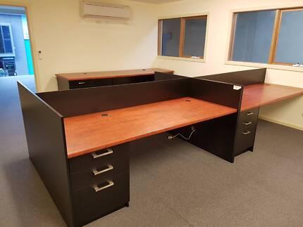 Office Desks + Reception Desk – high quality – like new