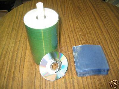 """100 PRODISC 3"""" MINI CD-R ,WHITE INKJET HUB PRINTABLE"""