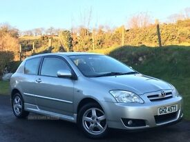 2005 TOYOTA 1.4 COROLLA 2 OWNER COLOUR COLLECTION 67521 MILES 3 DR MOTD MAY 17 EXCELLENT CONDITION
