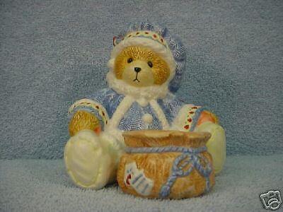 Enesco Cherished Teddies Bear with Candle NIB #178330