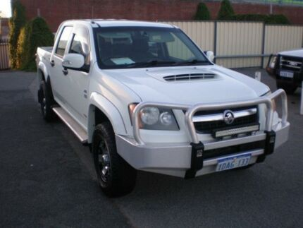2009 Holden Colorado RC MY10 LX (4x4) White 5 Speed Manual Crew Cab P/Up